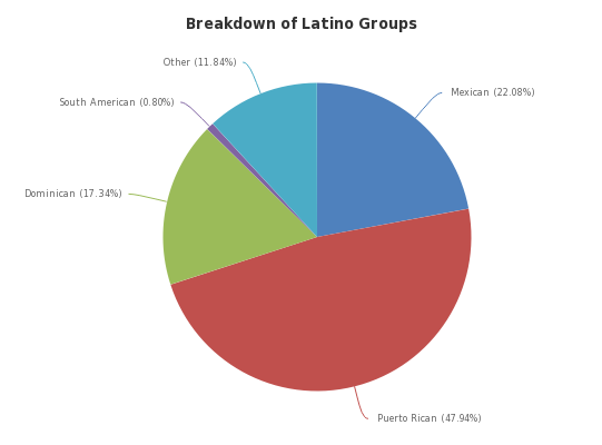 Breakdown of Latino Groups - http://sheet.zoho.com